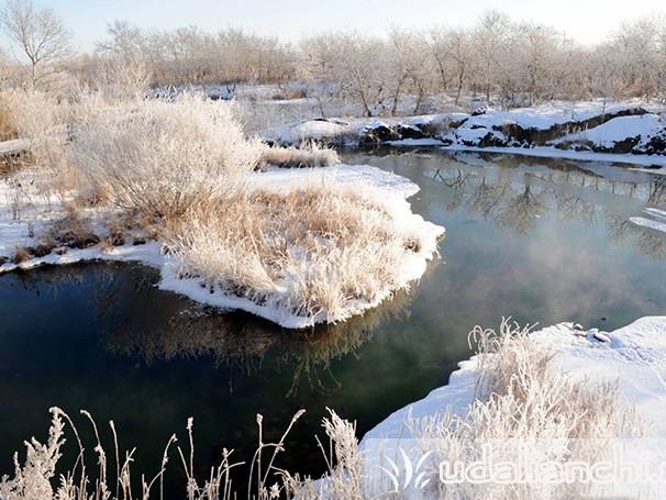 Озеро Удалянчи зимой
